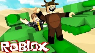 Roblox Adventures / Tiny Tanks! / RIDING AND BLOWING UP TANKS!