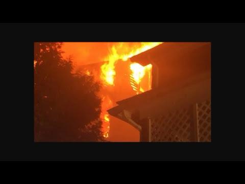 Working house fire 700 block Sarah Place Johnstown Pennsylvania Fire audio