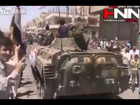 Al Qusayr   People Celebrating Big Victory   Syria War 05 06 2013
