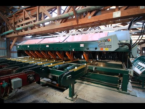 Mellott Drop Saw Trimmer/Lumber Grading System in operation at  J.M. Wood Products - Allensville, PA