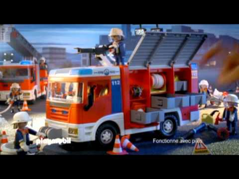 le camion de pompiers playmobil youtube. Black Bedroom Furniture Sets. Home Design Ideas
