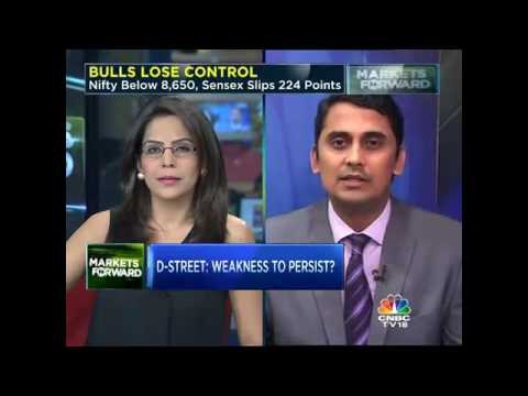 BULLS LOSE CONTROL Nifty Below 8,650, Sensex Slips 224 Points