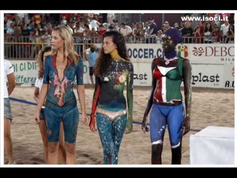 isoci colors 2008 beach soccer beach volley body paint