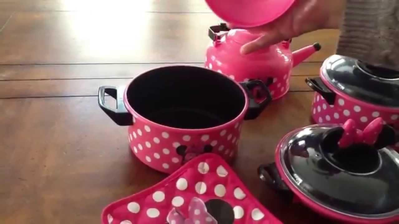 Disney Store Minnie Mouse Kitchen Play Set Pots N Pans Cooking Set Kitchen Youtube
