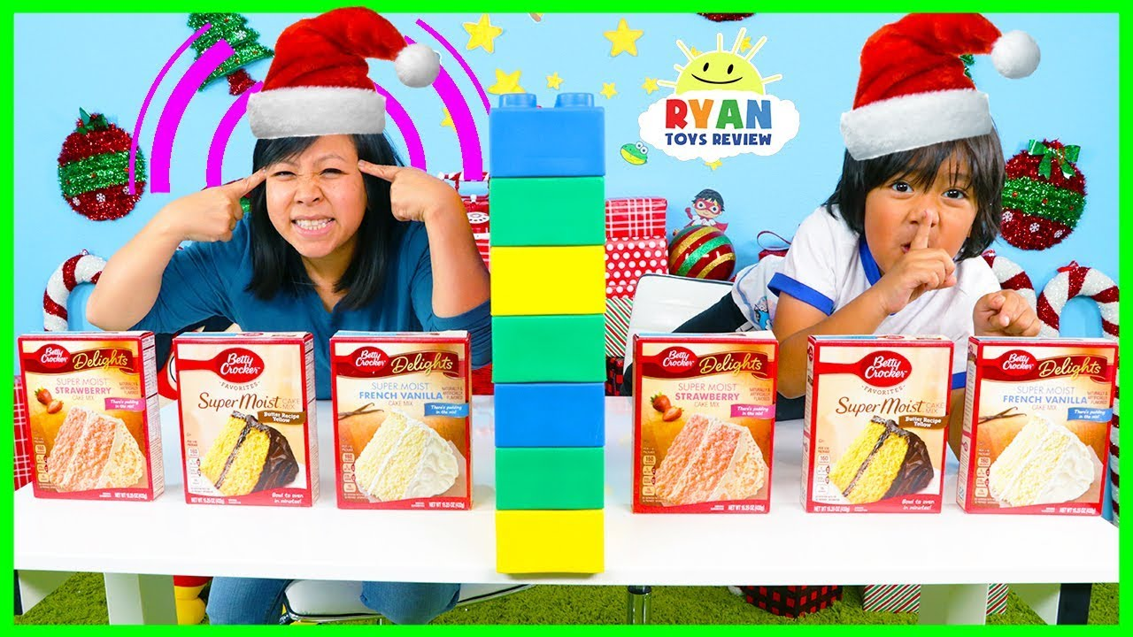 Twin Telepathy Cake Challenge Christmas Edition With Ryan