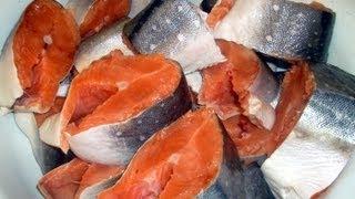 КАК ЗАСОЛИТЬ КРАСНУЮ РЫБУ(Попробуйте сами засолить красную рыбу, это очень просто, и вы никогда не захотите больше покупать красную..., 2013-08-27T14:42:50.000Z)