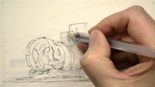 How to Draw book page 195: Copic marker Pilot HI TEC pen