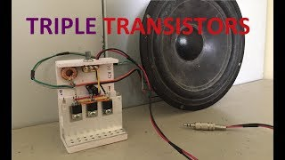 Powerful Bass Amplifier Using Triple 13007 Transistors From PC Power Supply