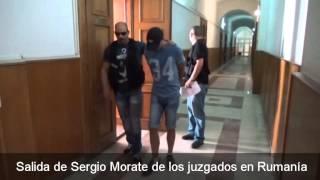 Sergio Morate en los juzgados en Rumanía