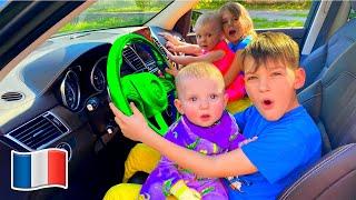 Comptines pour bébé Nous sommes dans la voiture - Cinq Enfants