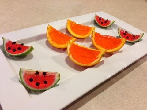 How to make Orange and Watermelon Jello Shots
