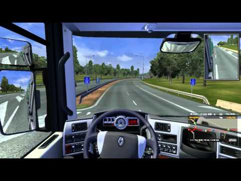 Euro Truck Simulator 2: Lumber delivery from Poznan to Berlin