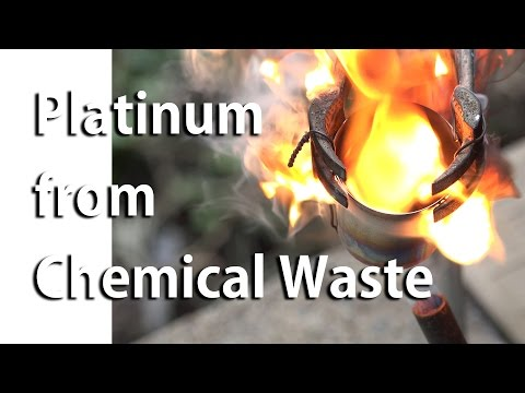 Platinum Recovery from Laboratory Chemical Waste (pt 1)