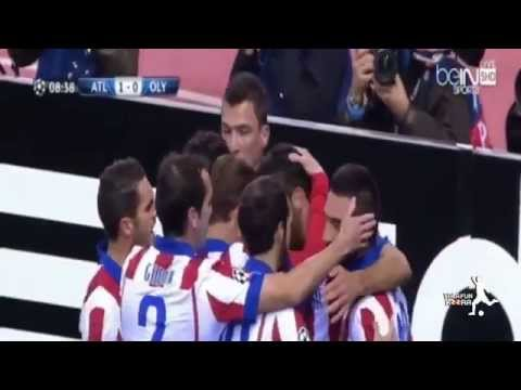Atletico Madrid vs Olympiakos 4 0 All Goals and Highlights HD CL 2014