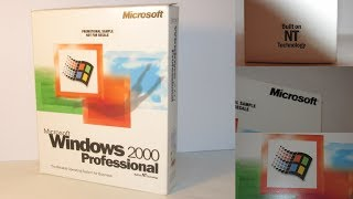 Microsoft Windows 2000: Unboxing (Not new) and Upgrading from Windows 98