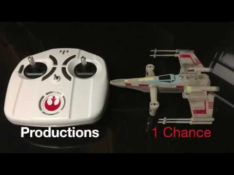 Unboxing and flying the Propel Star Wars T-65 X wing Star Fighter Drone.