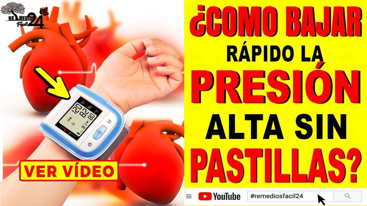 como bajar la presión arterial rápidamente naturalmente