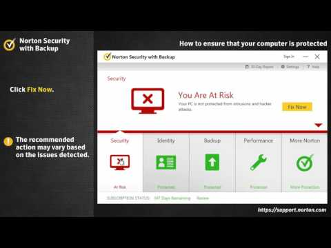 Norton Security  Configure settings to ensure your computer is protected