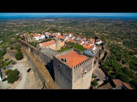 Castelo de Vide aerial view - 4K Ultra HD