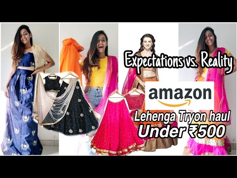 Try On Haul Bridal & Wedding Lehengas from Amazon under 500 | Unboxing & Review