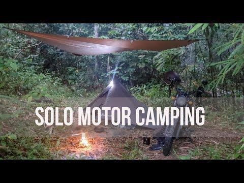 Solo Motorcycle Camping  Rainforest Nature Sound  NO TALKING -Bajaj V15