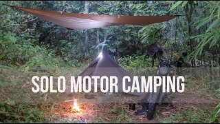 Solo Motorcycle Camping  Rainforest Nature Sound  NO TALKING -Bajaj V15