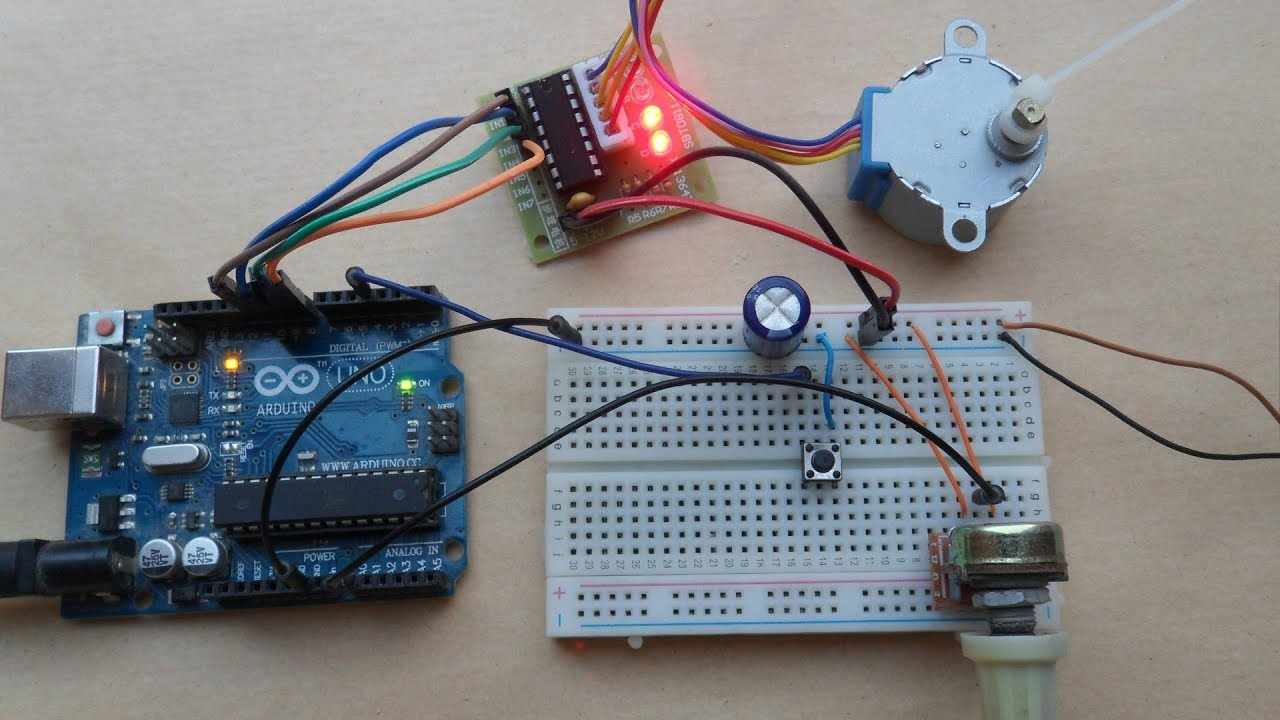 Arduino Unipolar Stepper Motor Control - Simple Projects