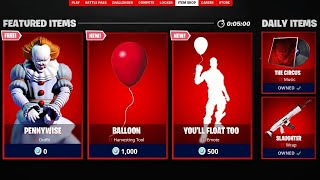 THE SKIN OF PENNYWISE - SHOP DAY 11 OF FORTNITE SEPTEMBER