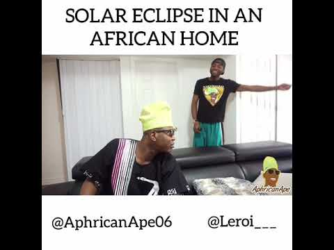Watching the solar eclipse in an African home!
