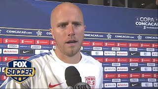Michael Bradley reacts to a disappointing loss to Mexico