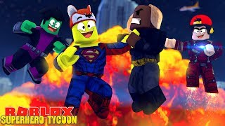 ROBLOX SUPER HERO TYCOON - DONUT TURNS INTO BEAST BOY 7 ROPO TURNS INTO IRON MAX