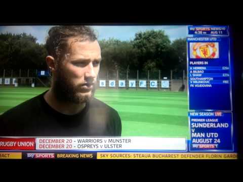 Stevie May Sky Sports News Interview