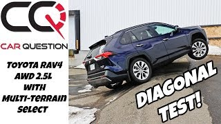 Toyota RAV4 AWD Diagonal Test with Multi-Terrain Select | From Rock to Sand mode!