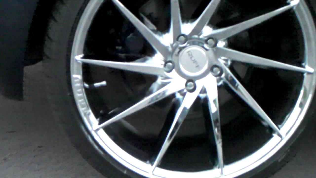 877 544 8473 20 inch ruff racing r2 chrome wheels staggered rims concave chrome wheels free shipping youtube