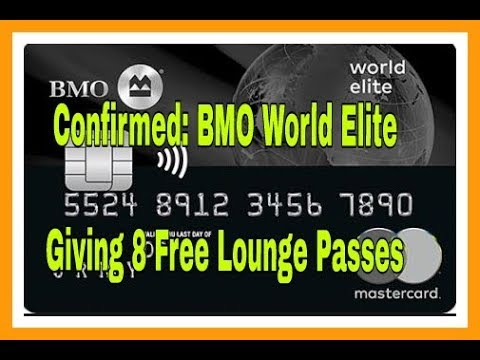 BMO World Elite MasterCard Gives 8 Free Lounge Passes This Year | Travel Rewards Credit Cards