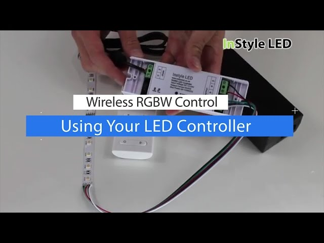 How to set up & use a wireless RGBW LED Strip light controller