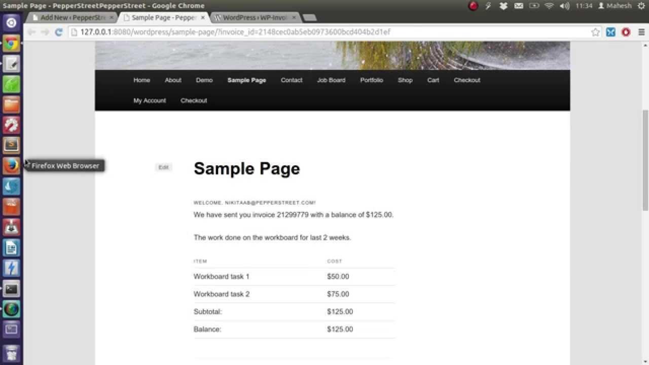 How To Create Invoices Using WordPress YouTube - Invoice generator plugin for wordpress