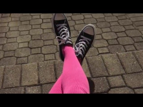 928071f9839 Shameless Pink Thigh-High Socks Made in the USA! - YouTube