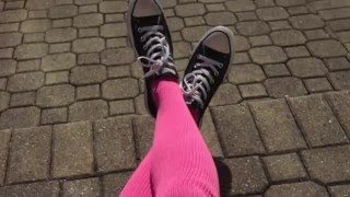 Shameless Pink Thigh-High Socks Made in the USA! | Williams Clothing Co.