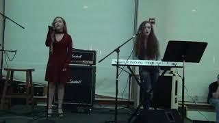 """Gambar cover """"And I'm Here"""" by Kim Kyunghee: Bella and Gianna Abbrescia at Archmere Coffee House 10/2017:"""