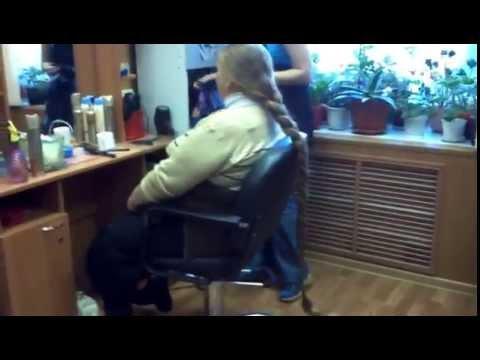 110 Cm Russian Long Hair Braid Cut Off YouTube