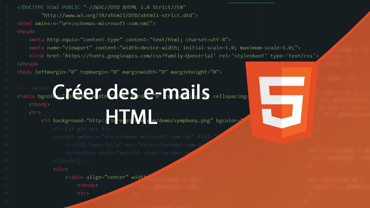 Tutoriel Html Creer Un Email Html Youtube