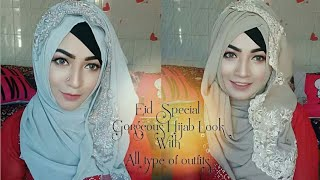 Eid Special Hijab Look with All Outfits | Pari ZaaD ❤
