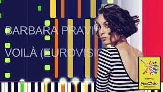 """Barbara Pravi - VOILÀ (EUROVISION 2021 FRANCE) (PRO MIDI FILE REMAKE) - """"in the style of"""""""