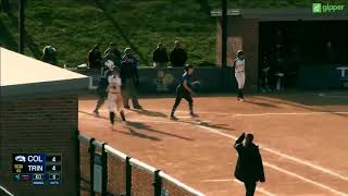 Trinity Softball v. Colby Highlights ~ 4/20