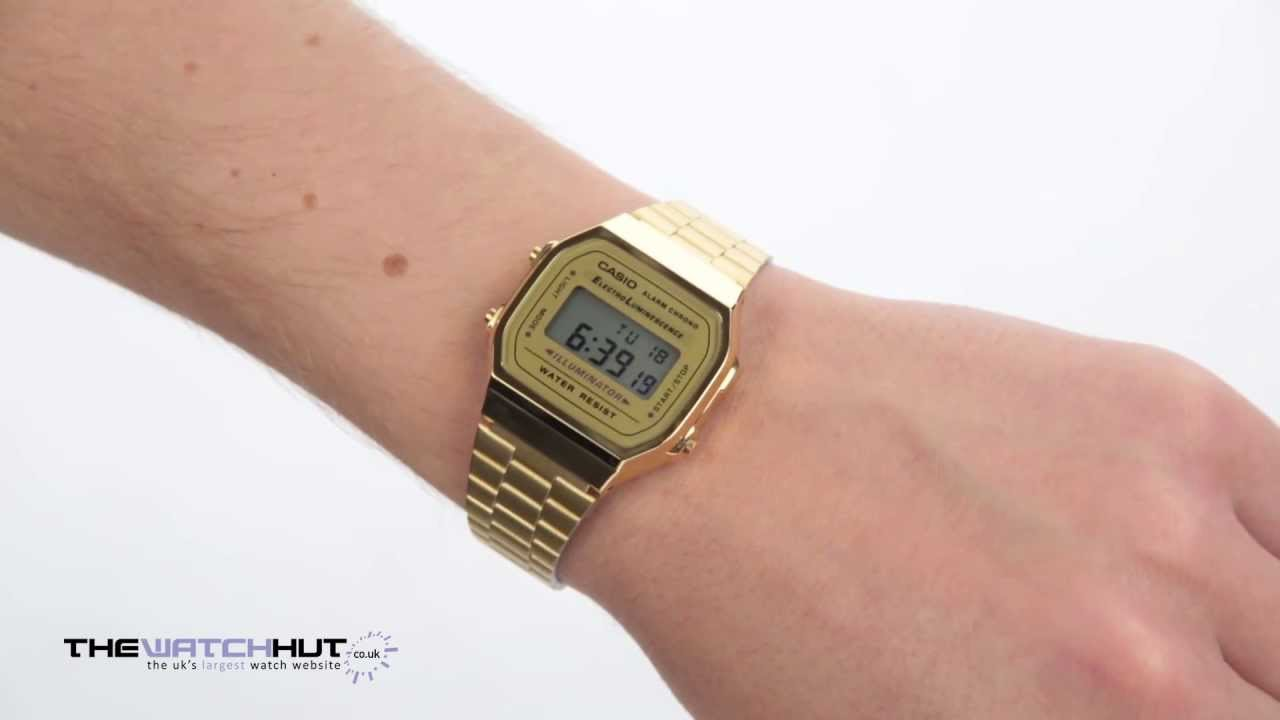 reputable site cc2f4 8b2da Casio Classic Leisure Watch A168WG 9EF