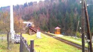 2М62-0996 с пассажирским поездом Рахов - Киев на мосту через р. Прут