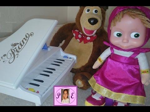Maşa ve koca ayı,horlayan kocaayı, piyanoda