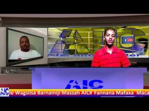 Afar Information Center Live Broadcasting Program Mr Gaas Ahmed