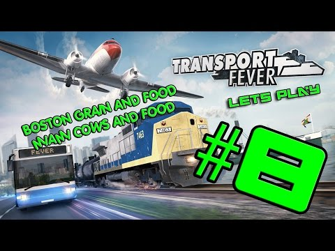 Let's Play Transport Fever Episode 8 - Boston grain and food, Miami Cows and food